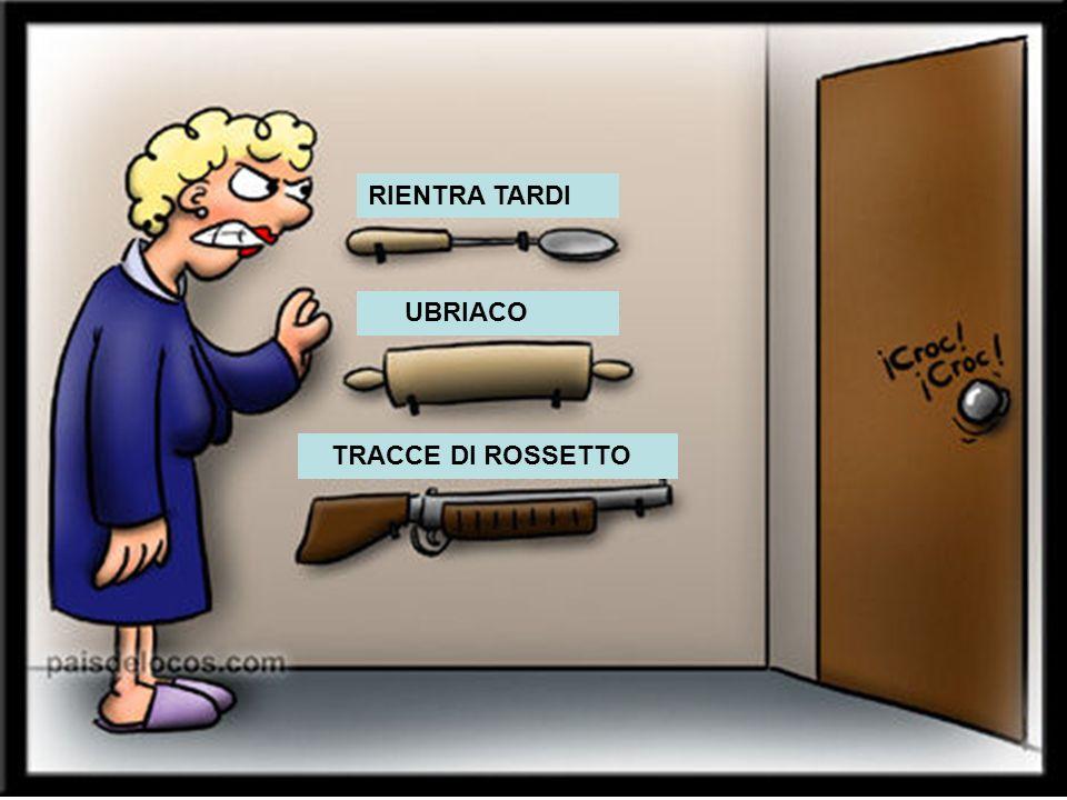 RIENTRA TARDI UBRIACO TRACCE DI ROSSETTO