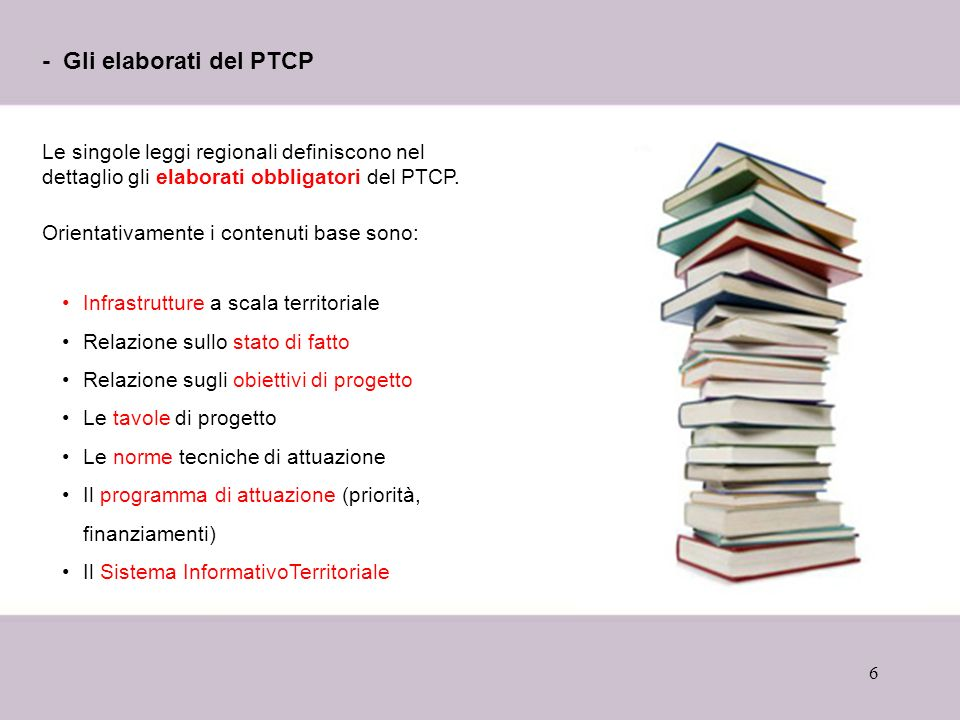 - Gli elaborati del PTCP