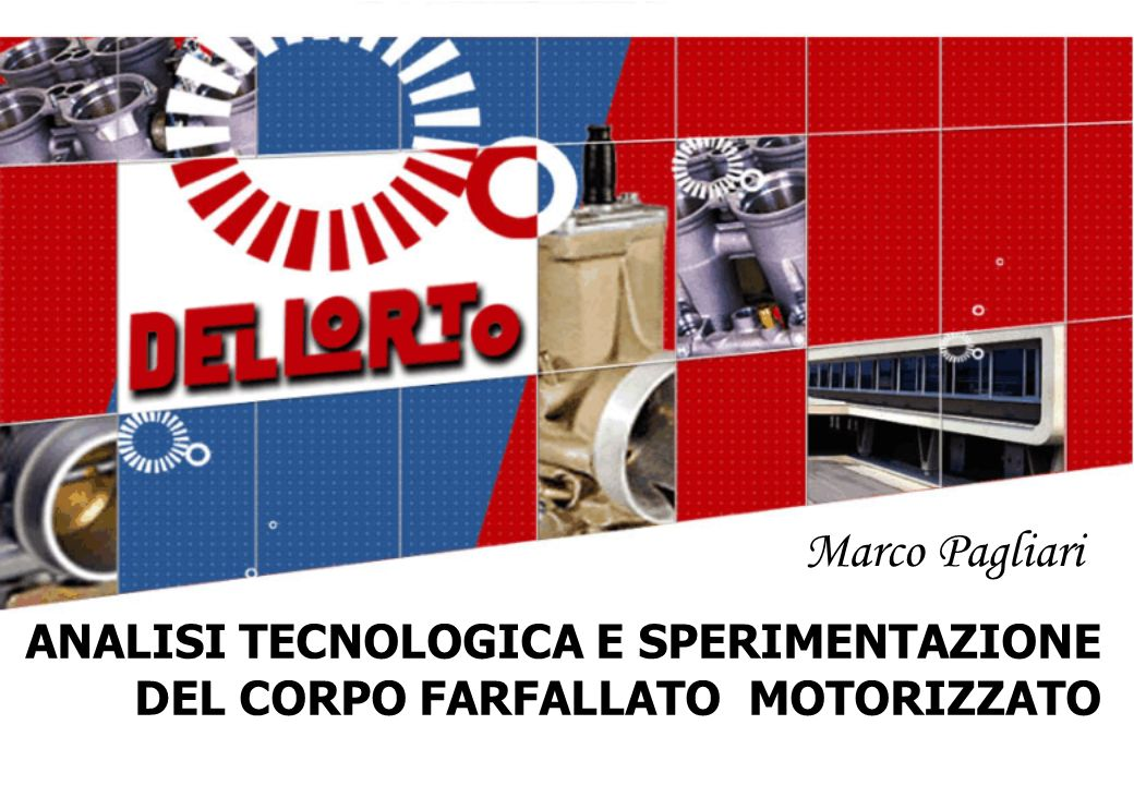 Marco Pagliari ANALISI TECNOLOGICA E SPERIMENTAZIONE DEL CORPO FARFALLATO MOTORIZZATO
