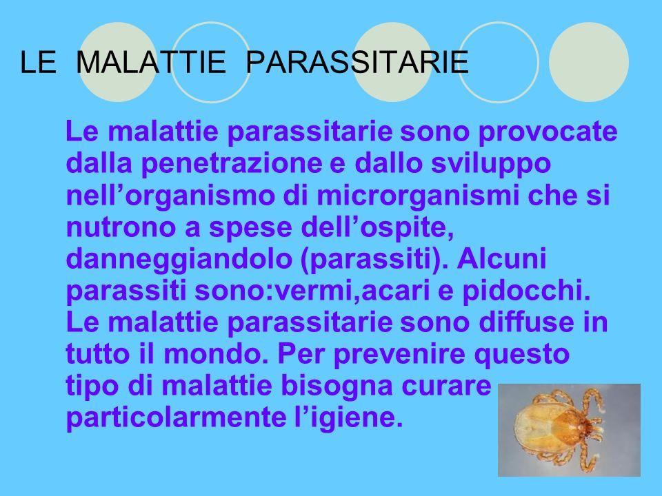 LE MALATTIE PARASSITARIE