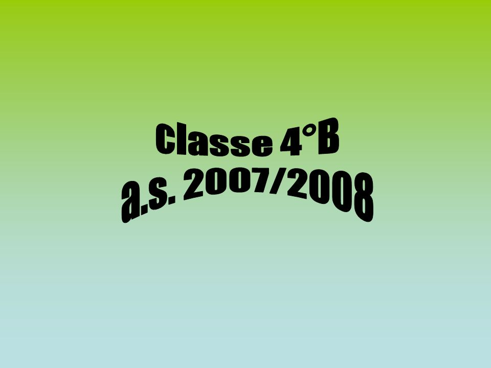classe 4°B a.s. 2007/2008