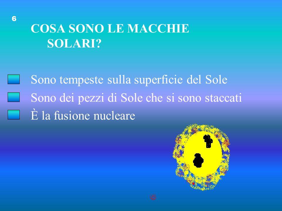 COSA SONO LE MACCHIE SOLARI