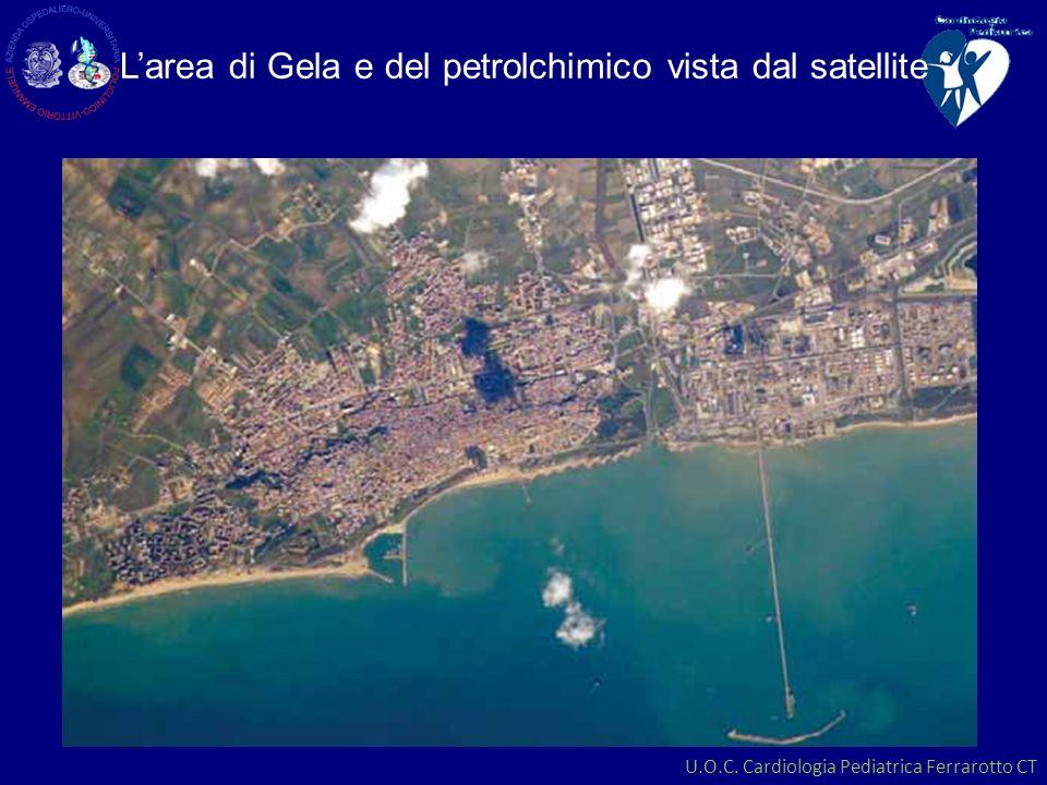 L'area di Gela e del petrolchimico vista dal satellite