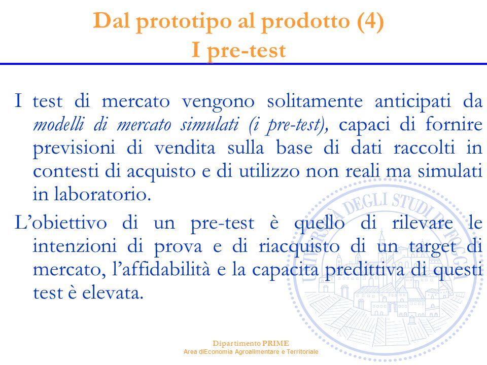 Dal prototipo al prodotto (4) I pre-test