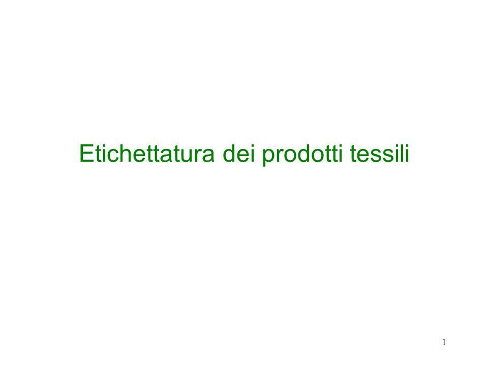 Etichettatura dei prodotti tessili