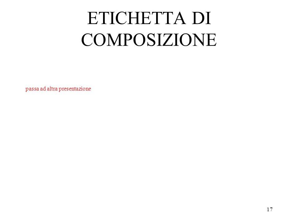 ETICHETTA DI COMPOSIZIONE