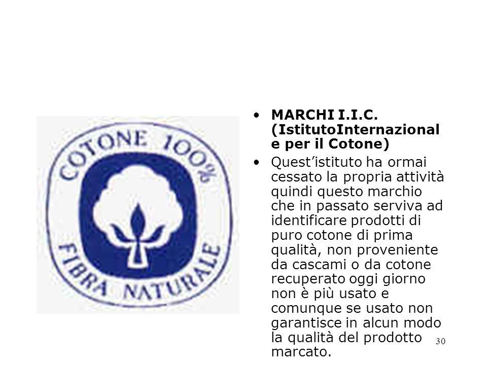 MARCHI I.I.C. (IstitutoInternazionale per il Cotone)