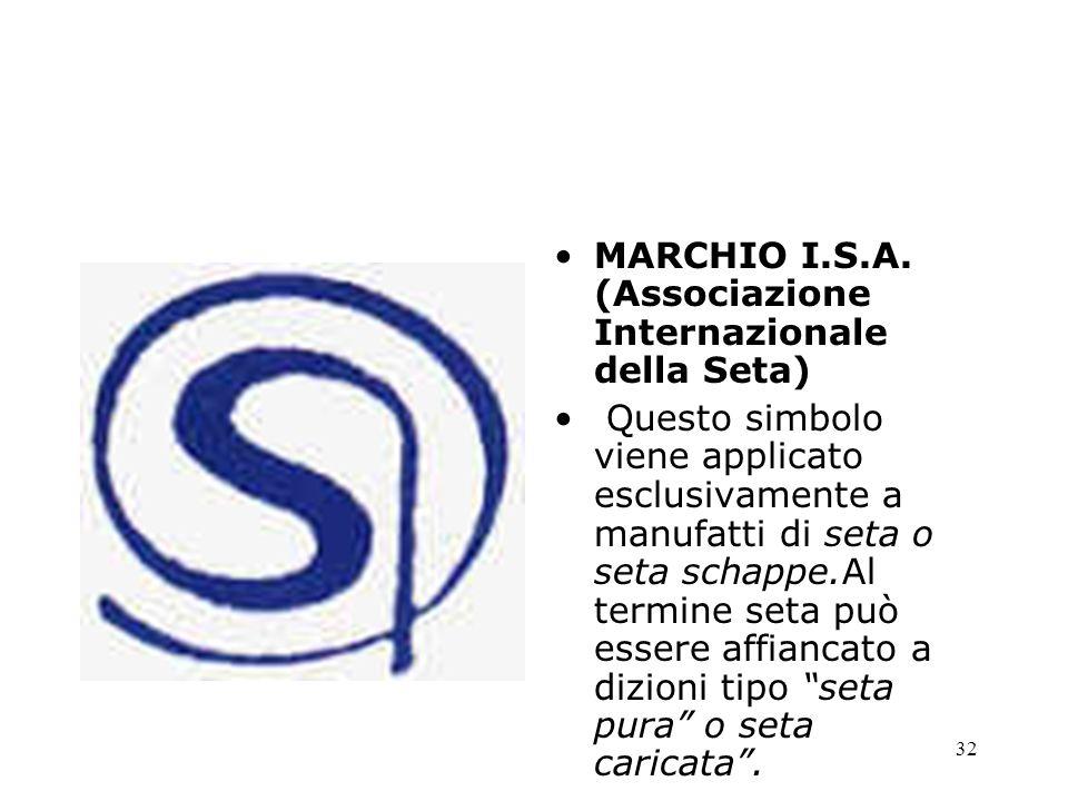 MARCHIO I.S.A. (Associazione Internazionale della Seta)