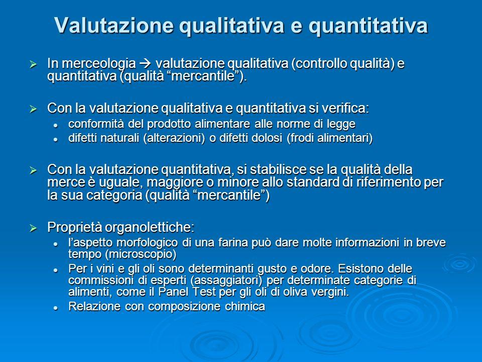 Valutazione qualitativa e quantitativa