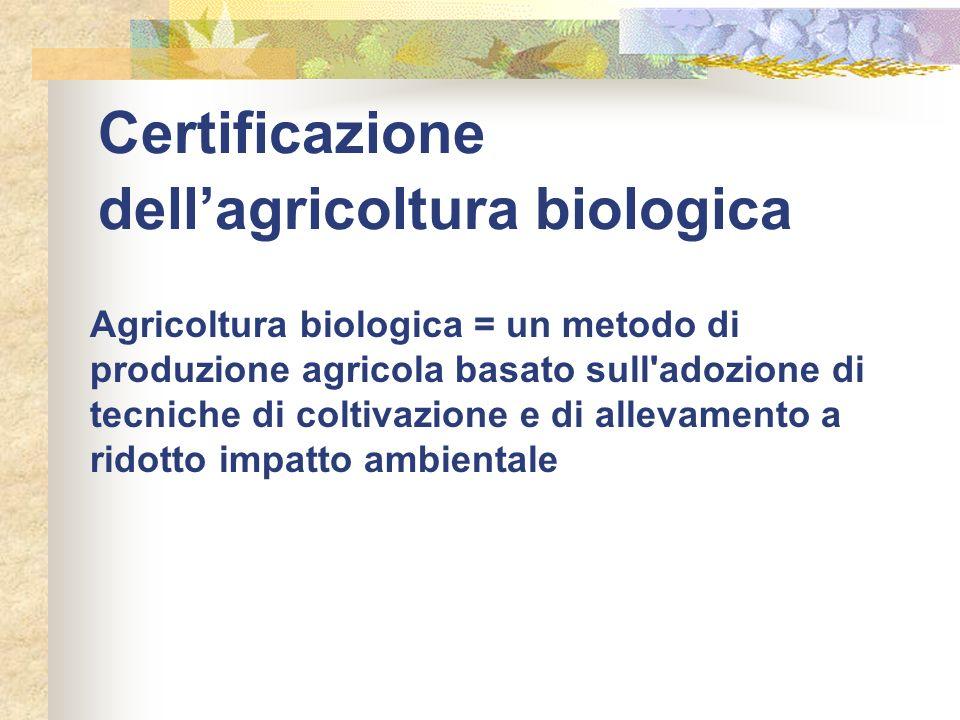 Certificazione dell'agricoltura biologica