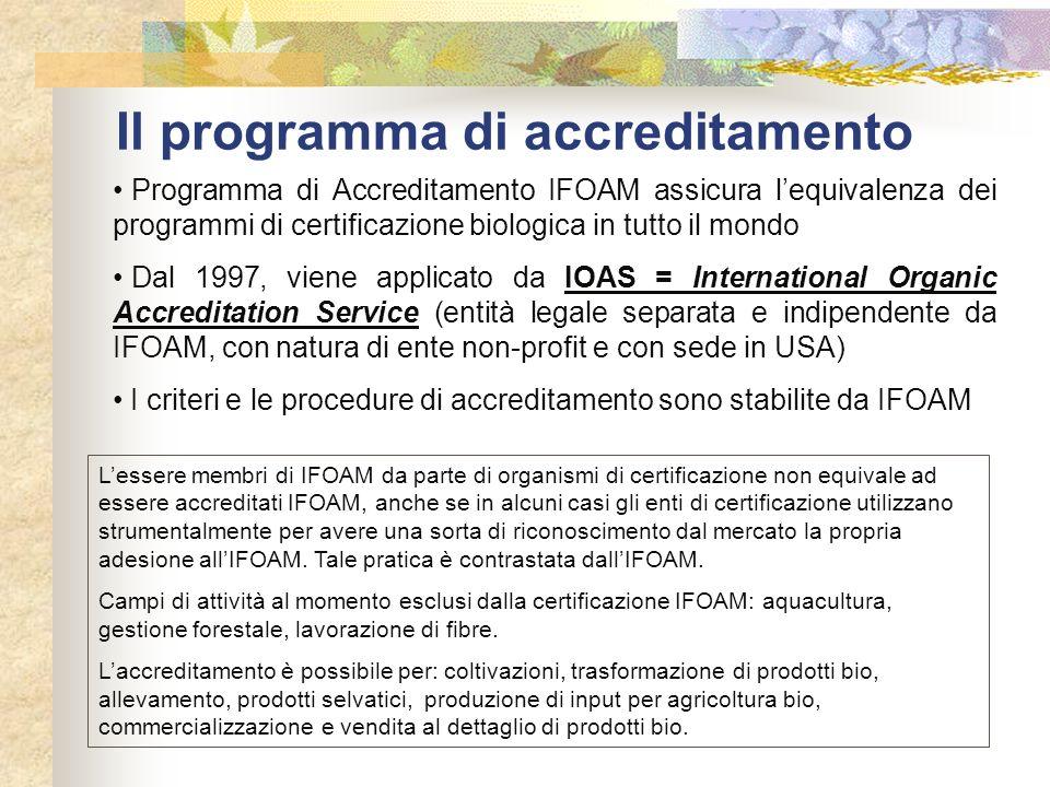 Il programma di accreditamento