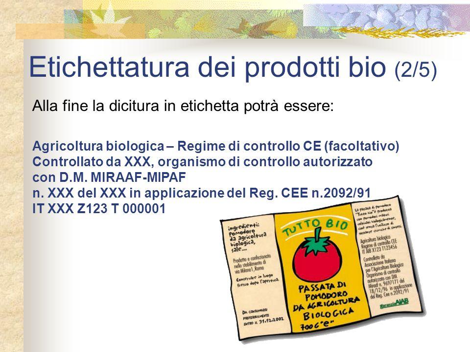 Etichettatura dei prodotti bio (2/5)
