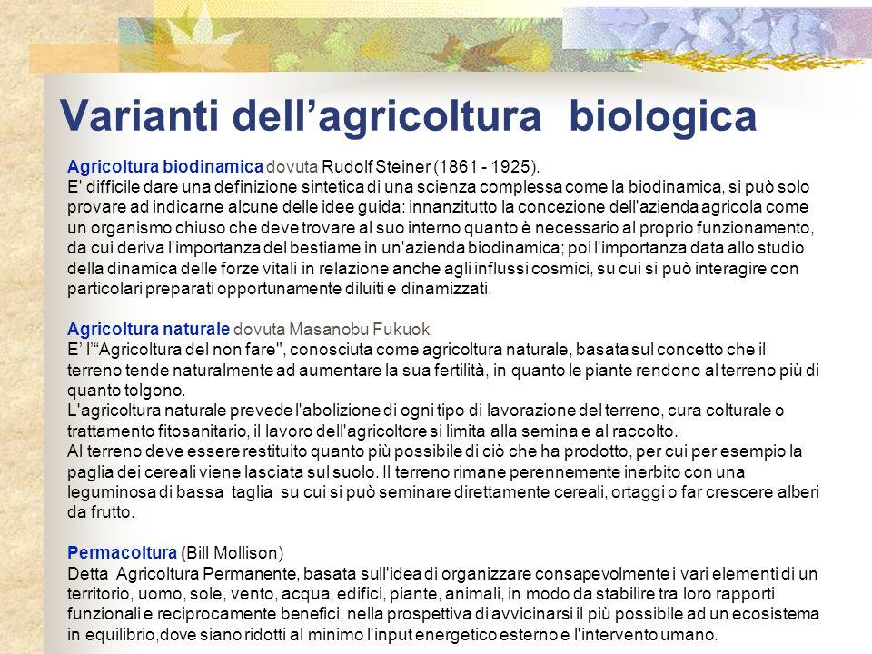 Varianti dell'agricoltura biologica