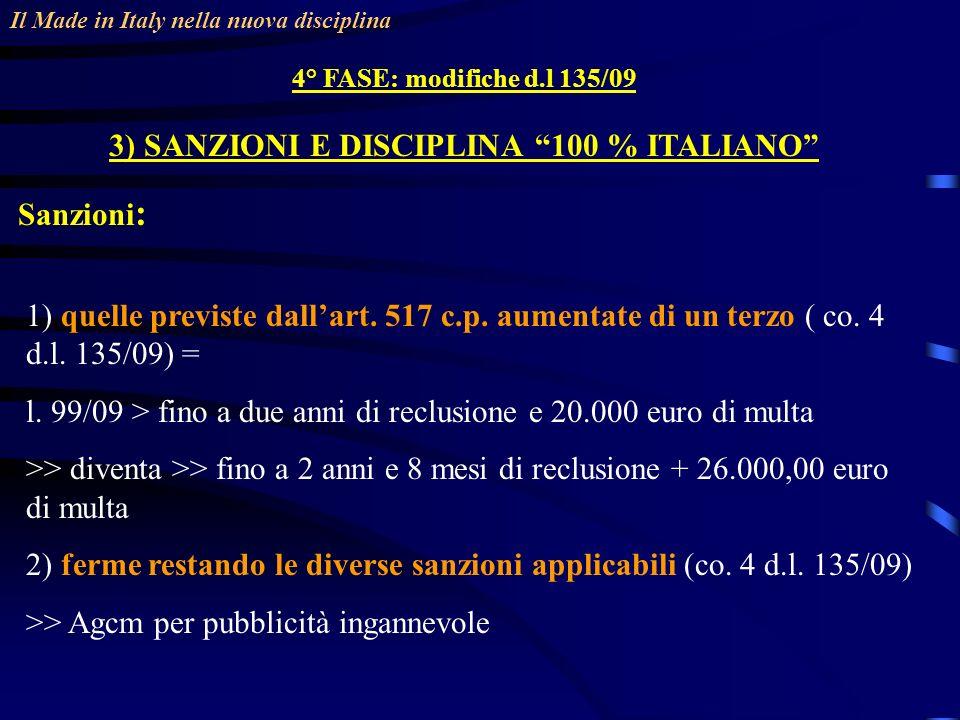 3) SANZIONI E DISCIPLINA 100 % ITALIANO