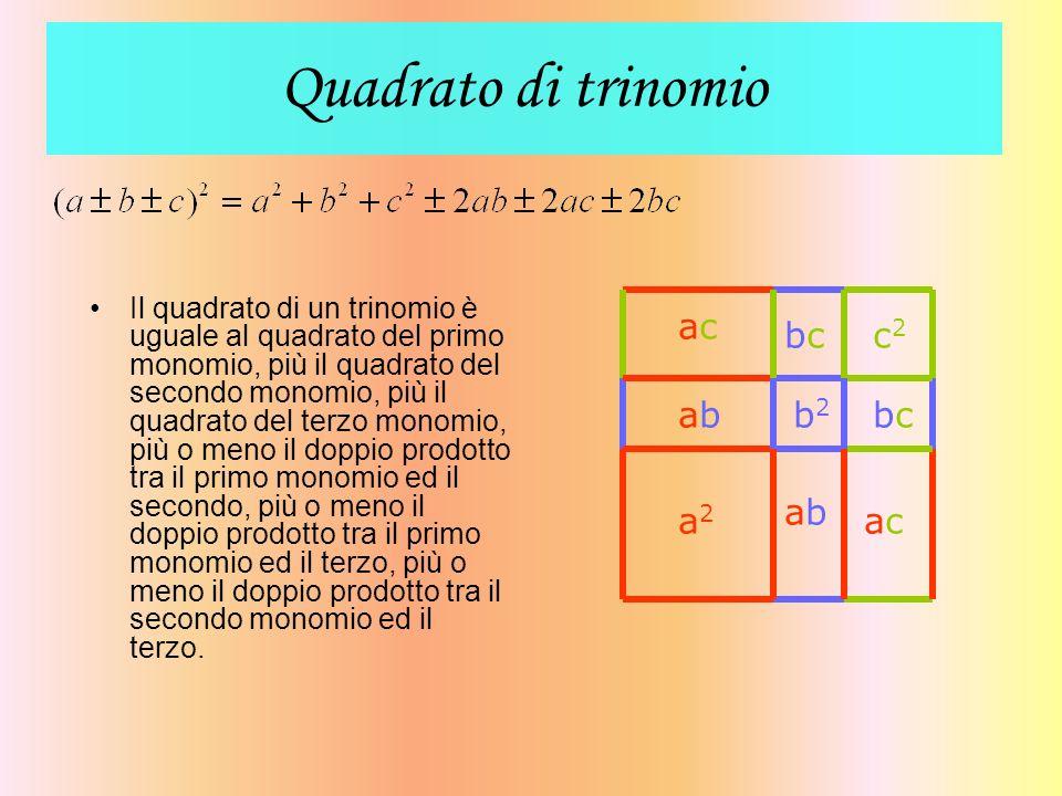 Quadrato di trinomio a2 b2 ab c2 ac bc