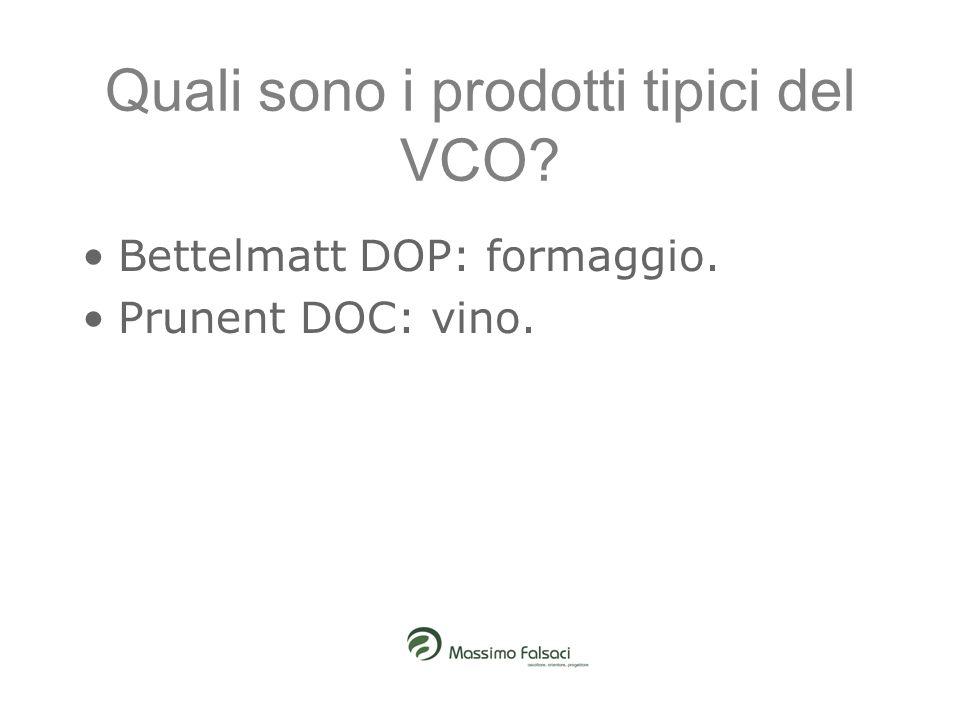 Quali sono i prodotti tipici del VCO