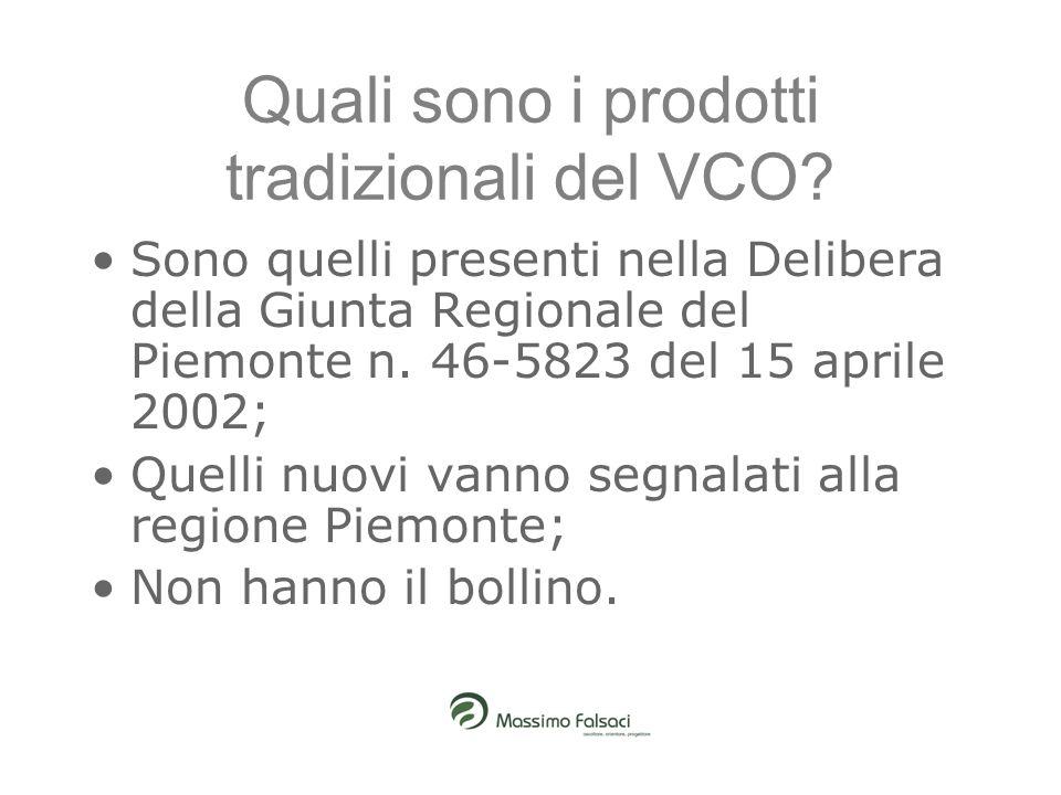 Quali sono i prodotti tradizionali del VCO