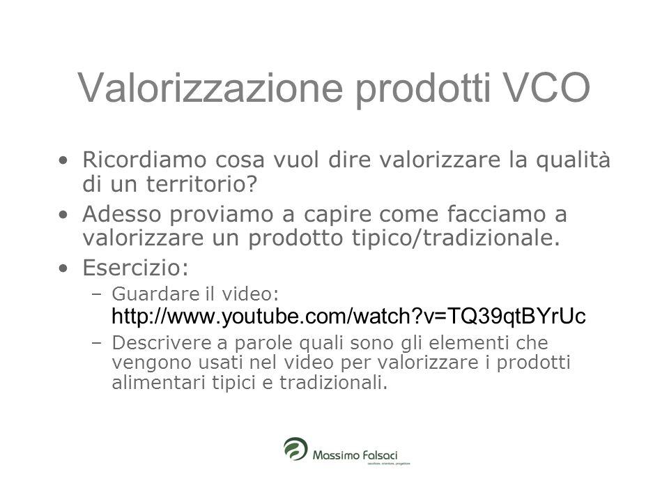 Valorizzazione prodotti VCO