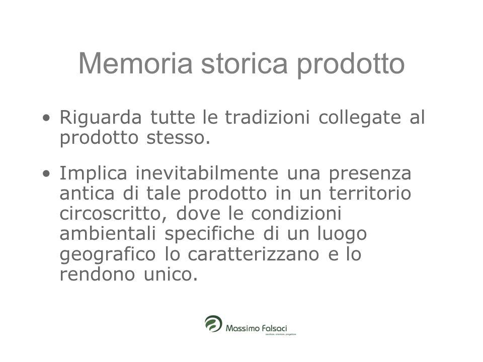 Memoria storica prodotto