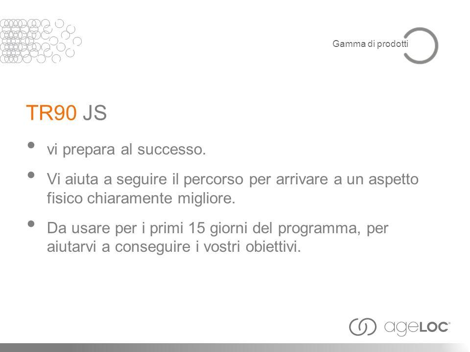 TR90 JS vi prepara al successo.