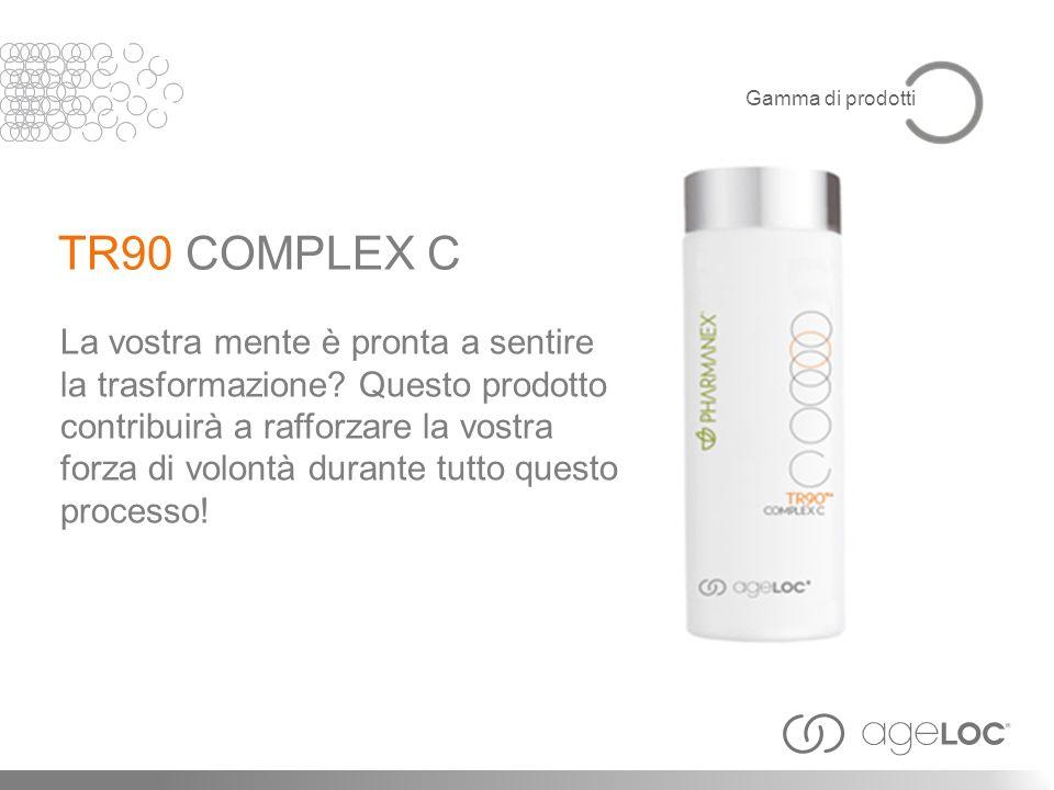 Gamma di prodotti TR90 COMPLEX C. La vostra mente è pronta a sentire la trasformazione Questo prodotto.