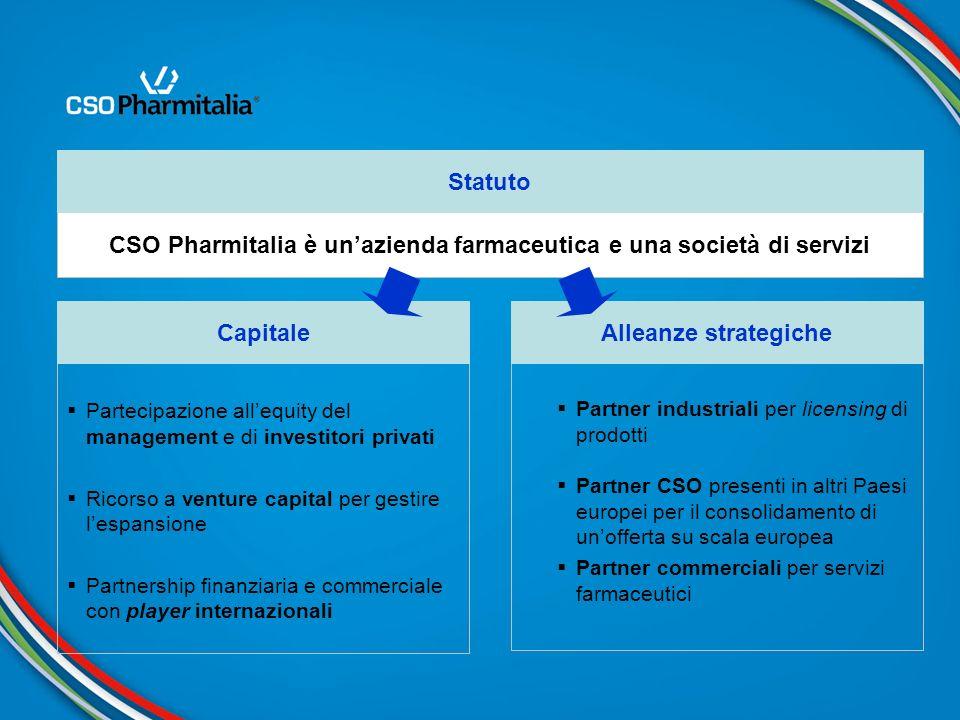 CSO Pharmitalia è un'azienda farmaceutica e una società di servizi