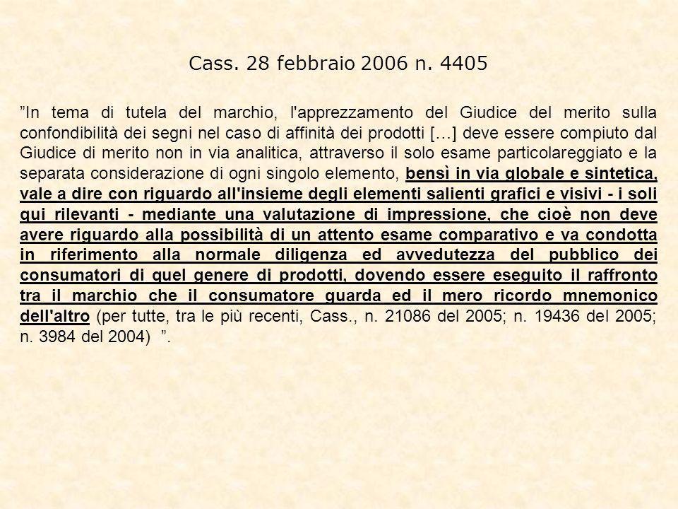Cass. 28 febbraio 2006 n. 4405
