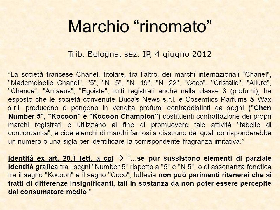 Trib. Bologna, sez. IP, 4 giugno 2012
