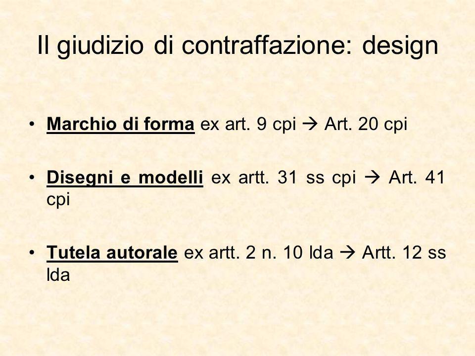 Il giudizio di contraffazione: design