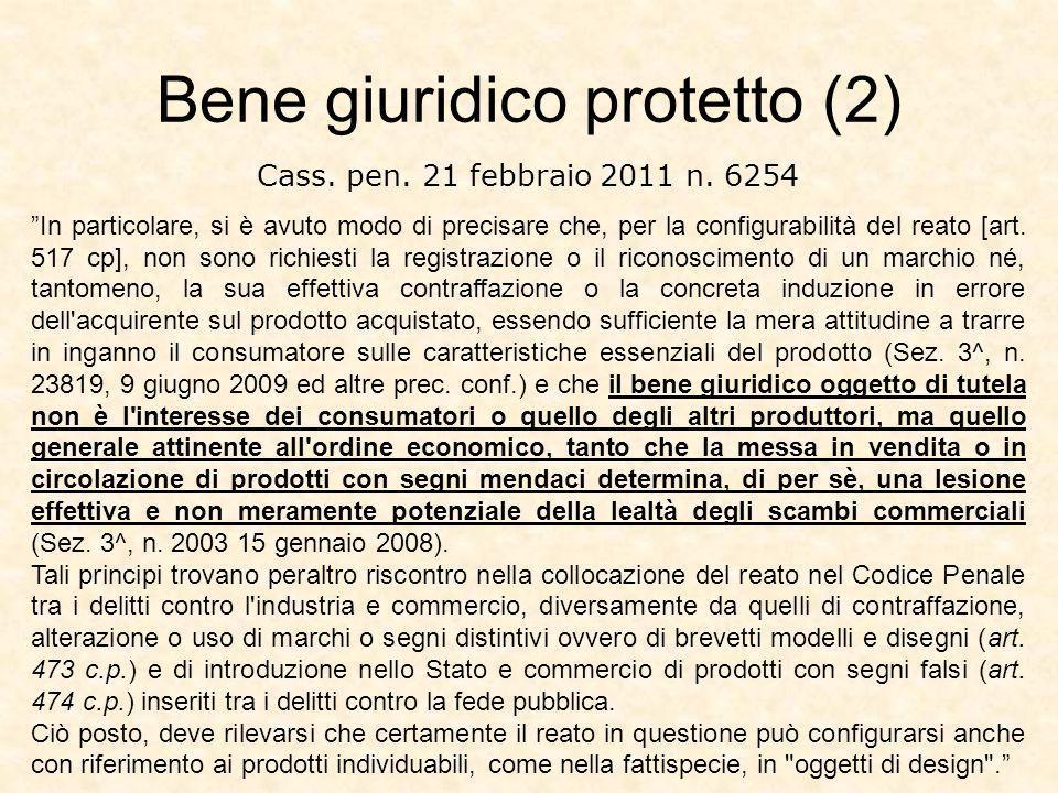 Bene giuridico protetto (2)
