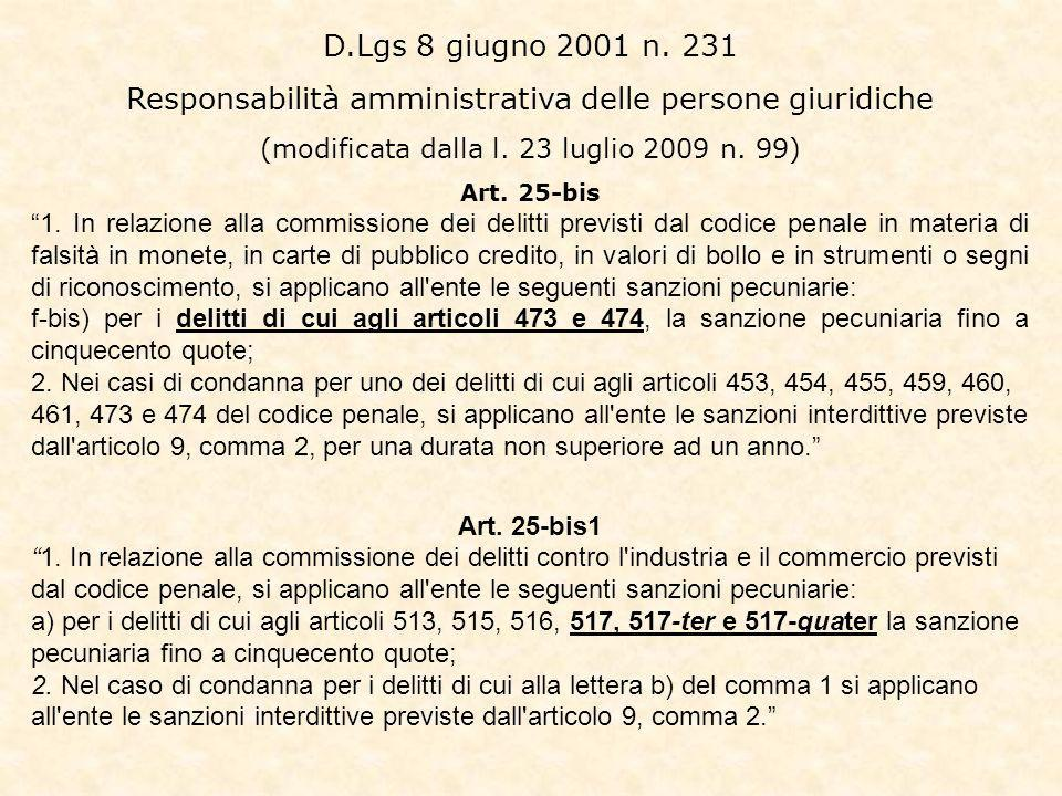 Responsabilità amministrativa delle persone giuridiche