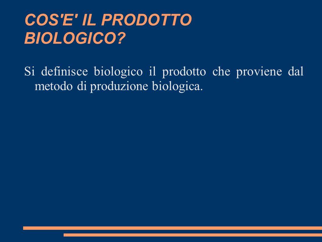 COS E IL PRODOTTO BIOLOGICO