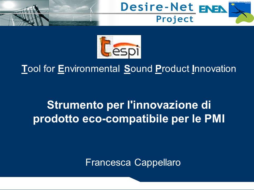 Strumento per l innovazione di prodotto eco-compatibile per le PMI