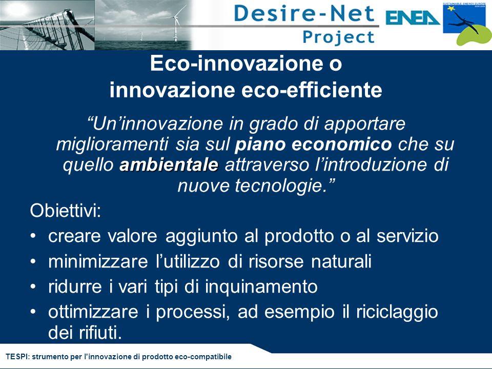 Eco-innovazione o innovazione eco-efficiente