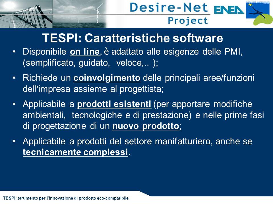 TESPI: Caratteristiche software