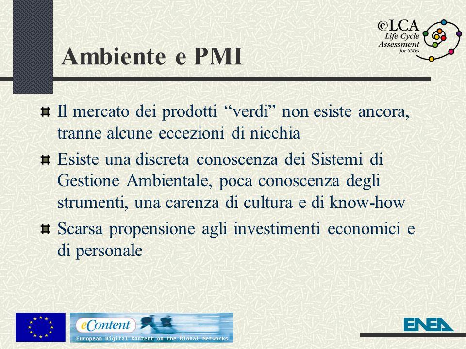 Ambiente e PMI Il mercato dei prodotti verdi non esiste ancora, tranne alcune eccezioni di nicchia.