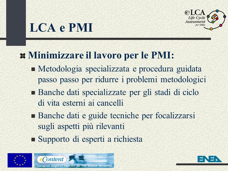 LCA e PMI Minimizzare il lavoro per le PMI: