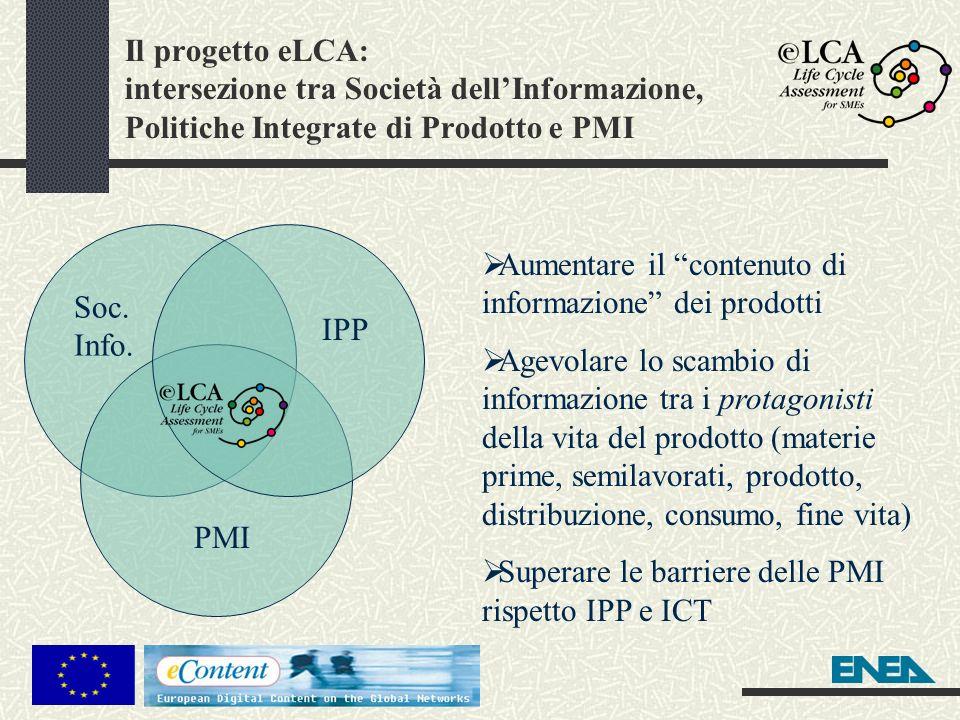 Il progetto eLCA: intersezione tra Società dell'Informazione, Politiche Integrate di Prodotto e PMI