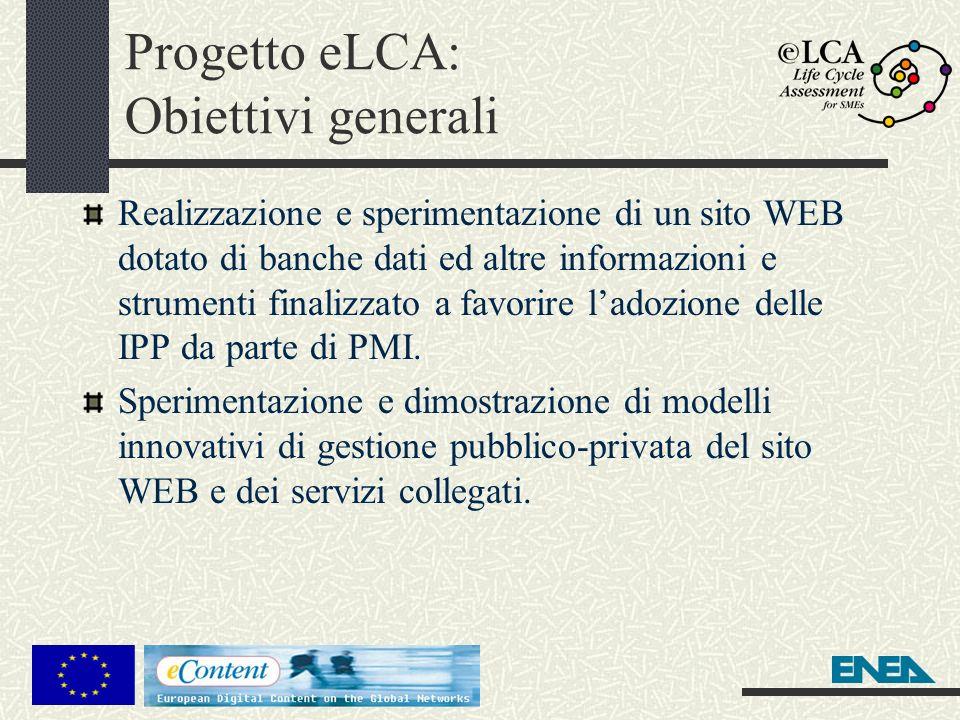 Progetto eLCA: Obiettivi generali