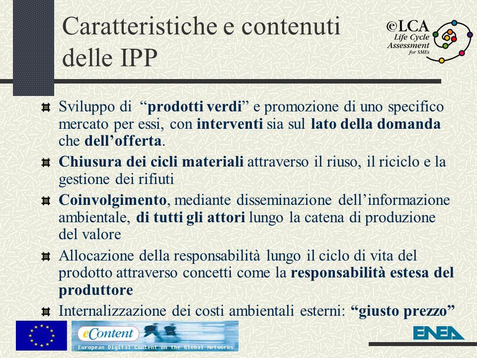 Caratteristiche e contenuti delle IPP