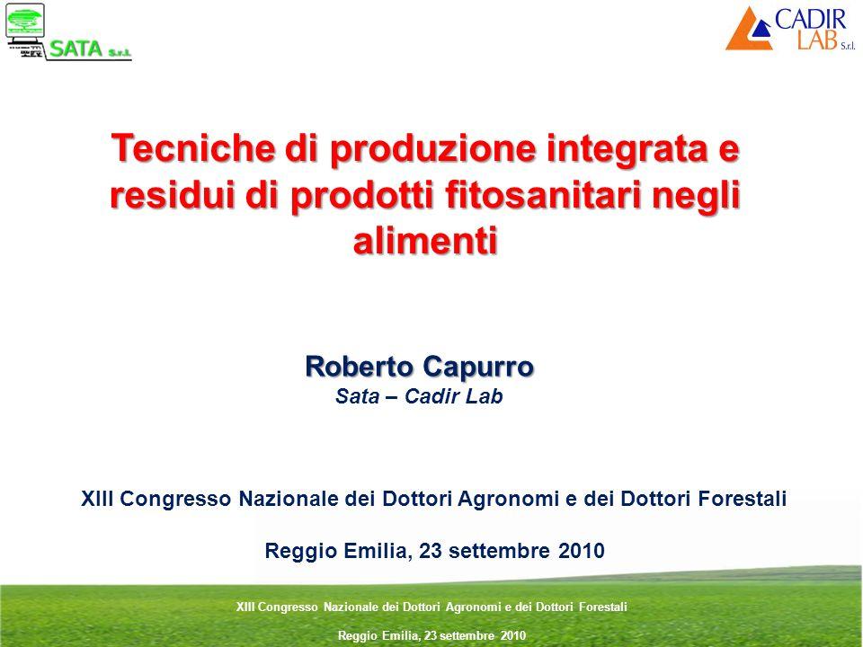 Tecniche di produzione integrata e residui di prodotti fitosanitari negli alimenti