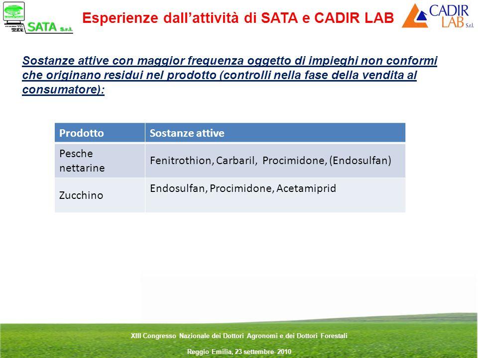 Esperienze dall'attività di SATA e CADIR LAB