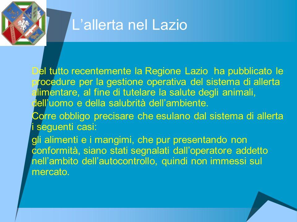 L'allerta nel Lazio