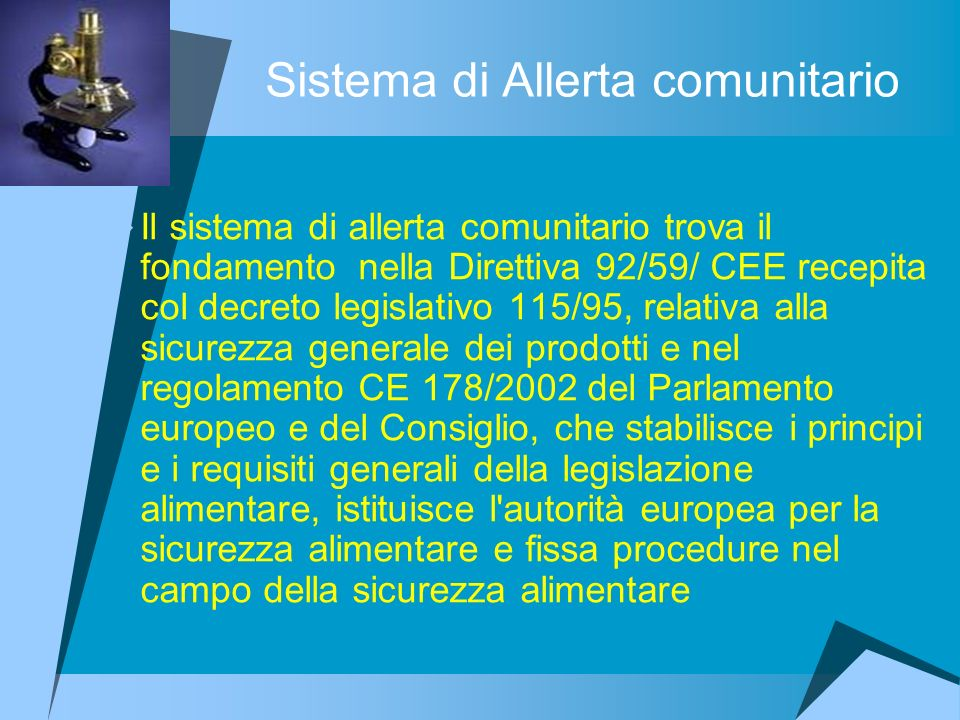 Sistema di Allerta comunitario