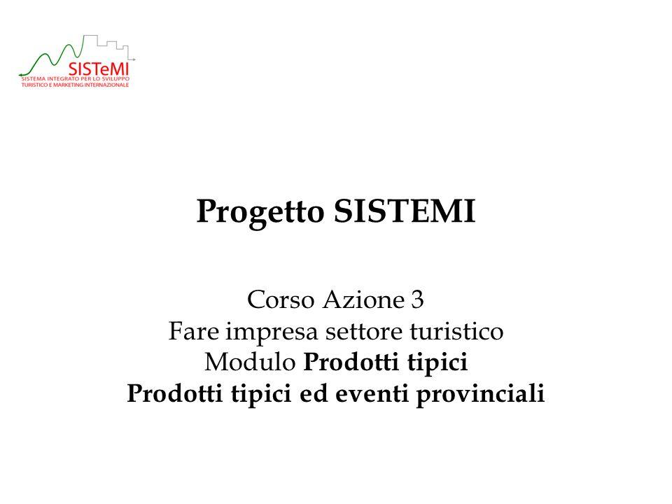 Prodotti tipici ed eventi provinciali