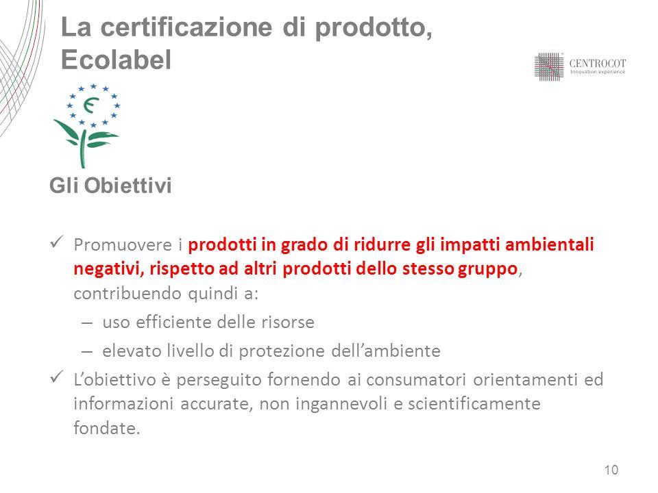 La certificazione di prodotto, Ecolabel