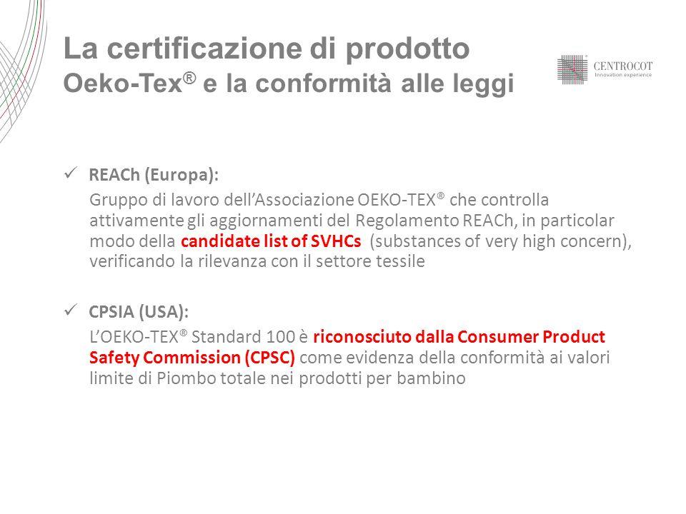 La certificazione di prodotto Oeko-Tex® e la conformità alle leggi