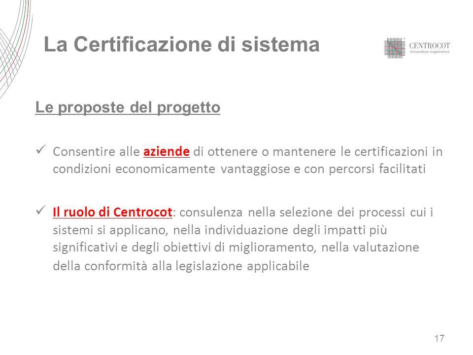 La Certificazione di sistema