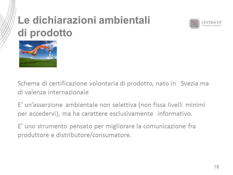 Le dichiarazioni ambientali di prodotto