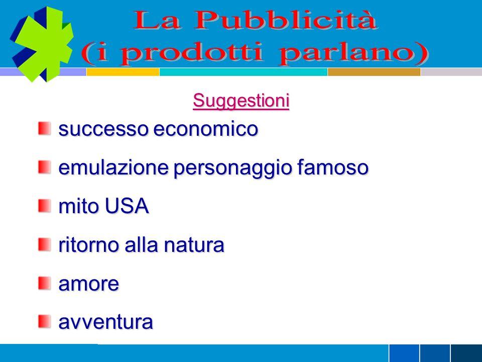 La Pubblicità (i prodotti parlano) successo economico